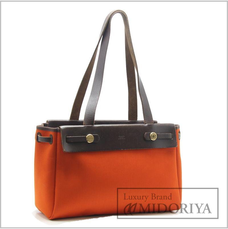 ... new arrivals hermes herbag cabas pm tote bag brown red orange 57478  33dc2 6f465 ... b23a7632254b5