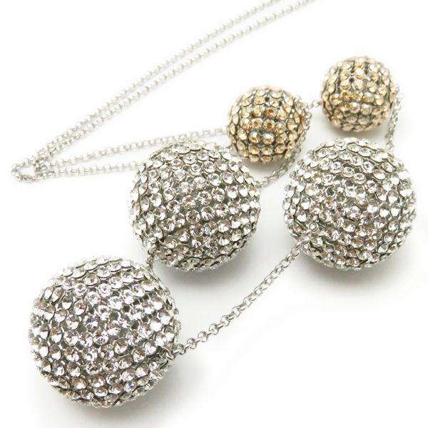 08354fd496 Pawn shop MIDORIYA PHASE: Swarovski SWAROVSKI crystal ball necklace long  necklace silver plating pendant /95821   Rakuten Global Market