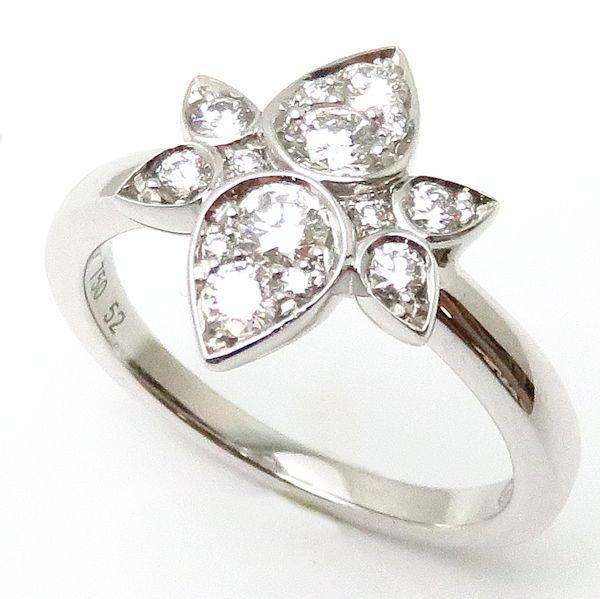 【緊急!大幅値下げ】カルティエ Cartier リング インドミステリューズ ダイヤモンド 刻印52 実寸11号 750WG 18金ホワイトゴールド 指輪/95879【中古】【クリーニング済】