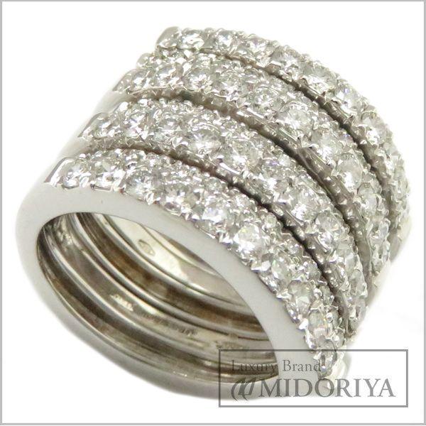 【緊急!大幅値下げ】ガラベリ 指輪 ダイヤモンド リング 15.5号 750WG/93459 GARAVELL【中古】【クリーニング済】