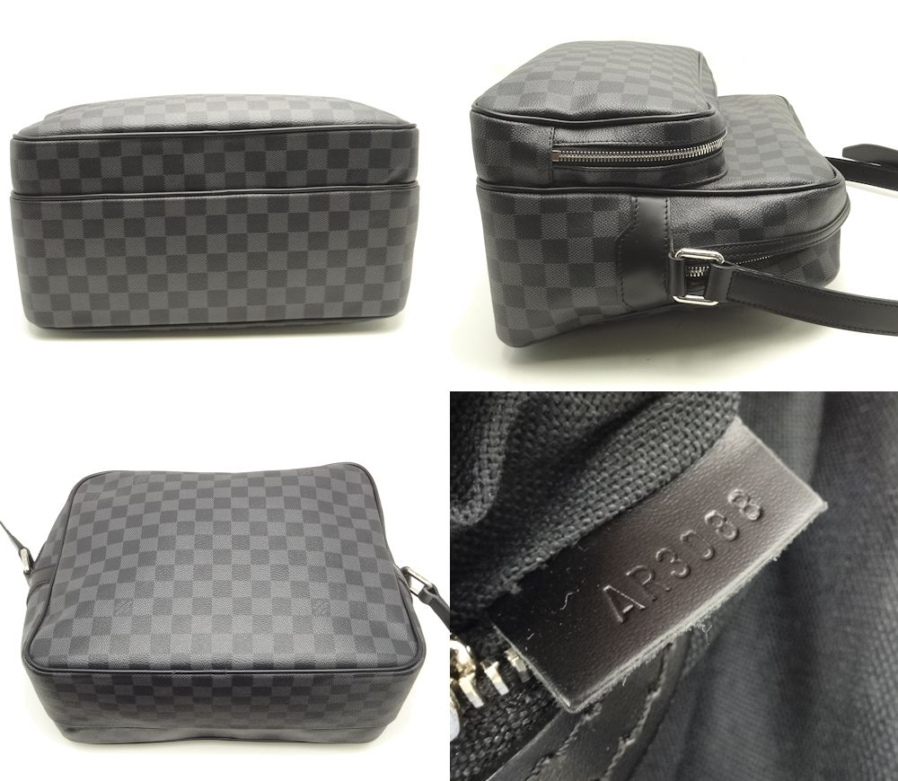 Authentic LOUIS VUITTON Damier Graphite Shoulder Bag N45252/18497