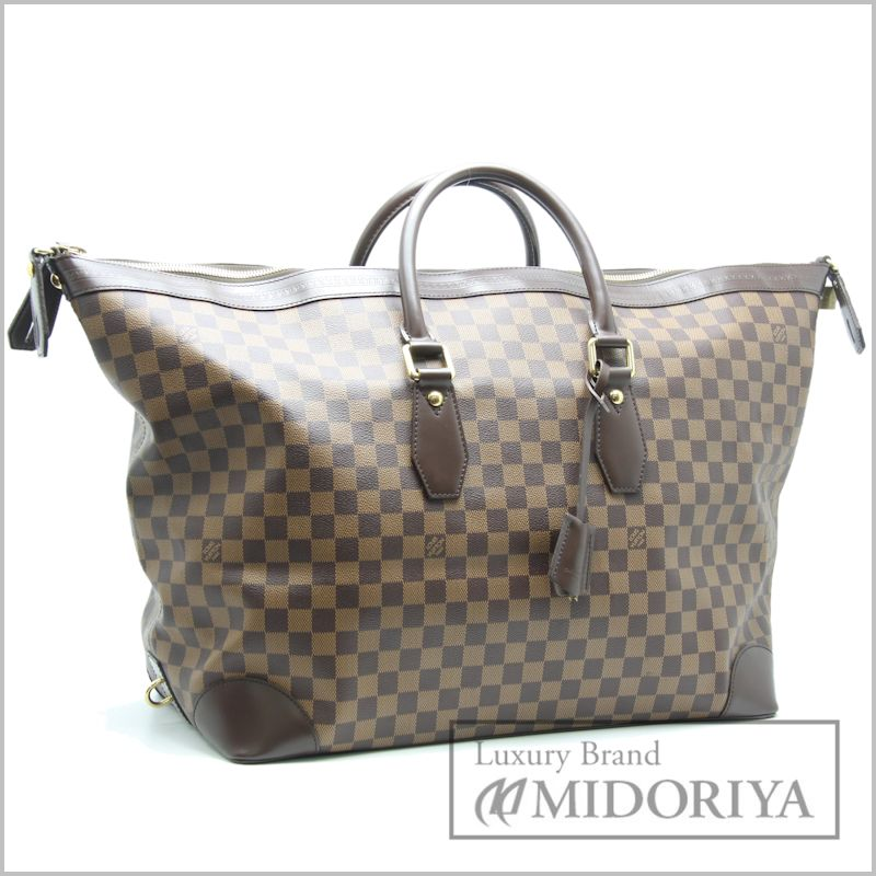 LOUIS VUITTON Damier Vaslav Boston Bag N41537 Ebene /18756