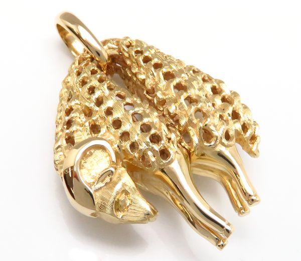 卡地亚吊坠最高层CARTIER黄金的fleece最高层750YG 18钱黄色黄金迷人/9万4621