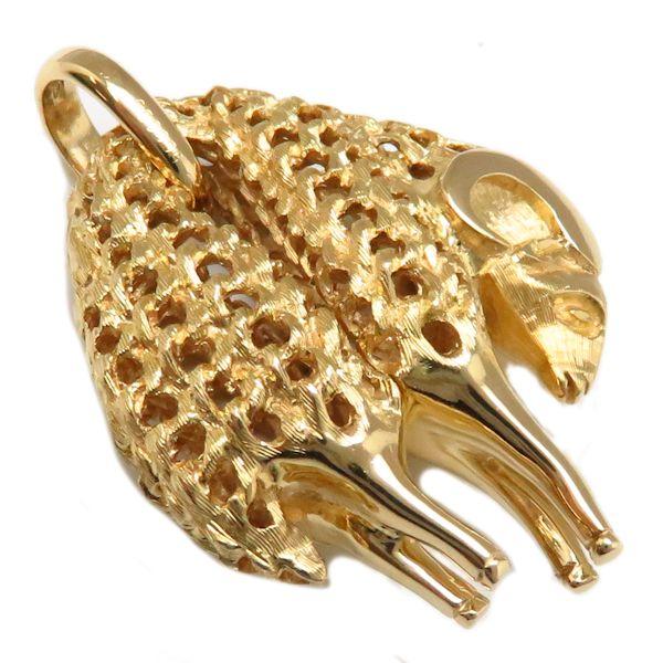 卡地亞吊墜最高層CARTIER黄金的fleece最高層750YG 18錢黄色黄金迷人/9萬4621