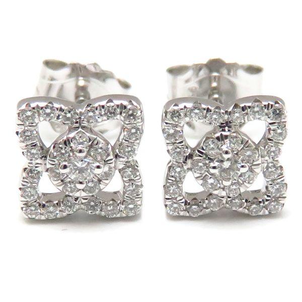 De Beers pierced earrings De Beers Ann chanter Roaches pierced earrings 750WG diamond 18-karat gold white gold /94633
