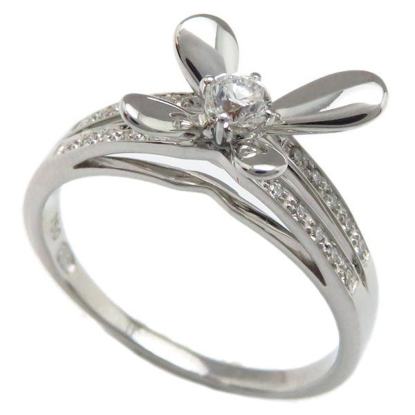 【緊急!大幅値下げ】モーブッサン リング MAUBOUSSIN ダイヤモンドリング 750WG 18号 18金ホワイトゴールド 指輪/94650【中古】【クリーニング済】
