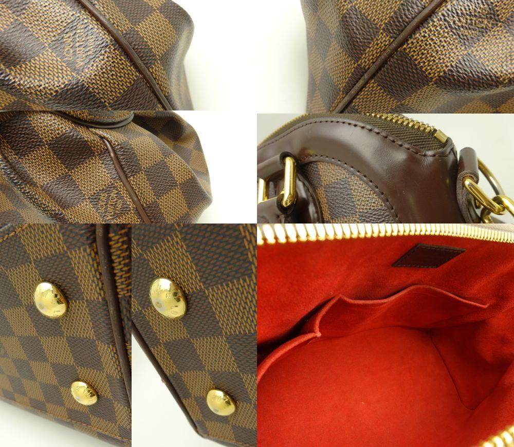Louis Vuitton Vuitton 2-WAY bag Damier Trevi PM N51997/18687 even Brown Louis-Vuitton LOUIS VUITTON Vitoria bag