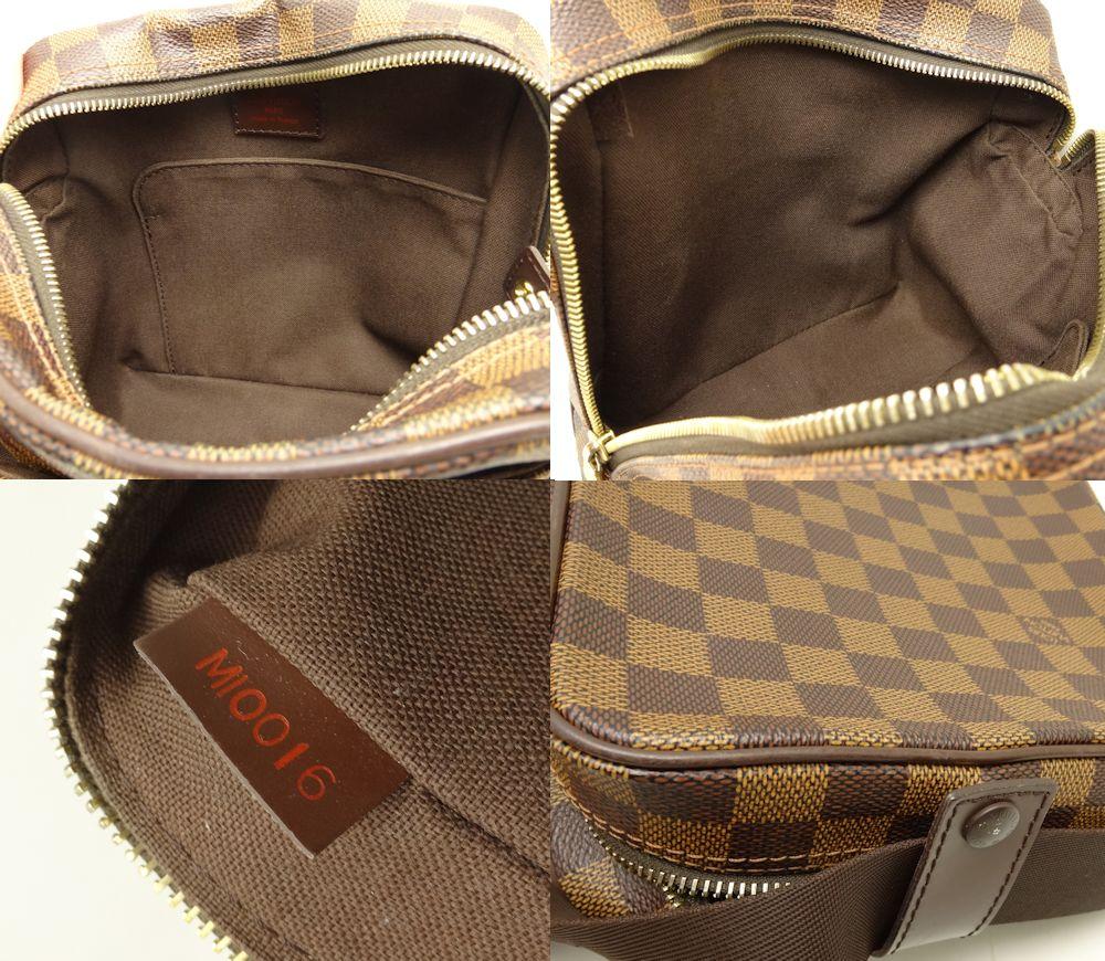 Authentic LOUIS VUITTON Damier Olav PM Shoulder Bag N41442 Ebene/18628
