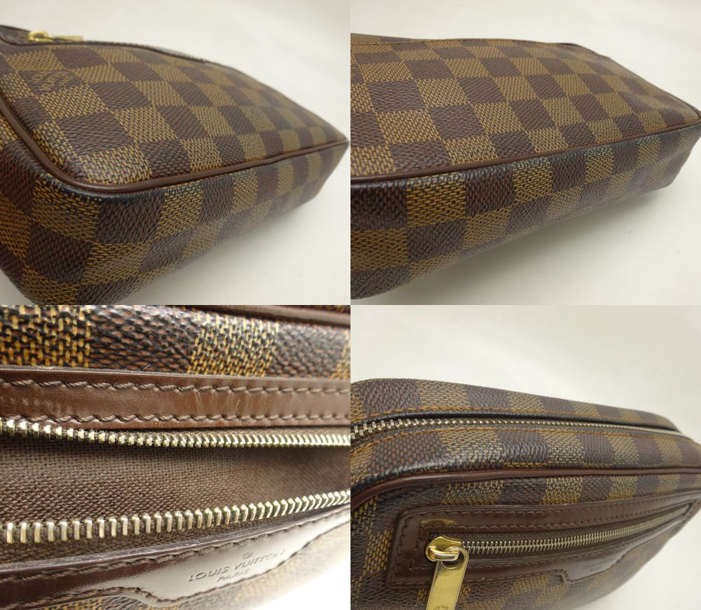 Authentic LOUIS VUITTON Damier Pochette Billets Macao Second Bag N61739 /18643