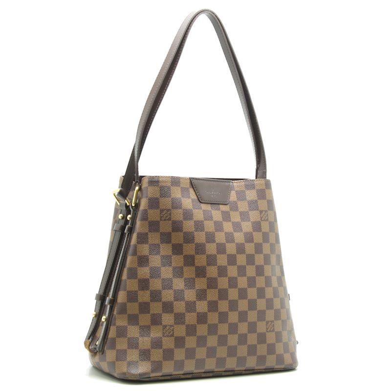 Authentic LOUIS VUITTON Damier Cabas Rivington Shoulder Bag N41108 Ebene/18644