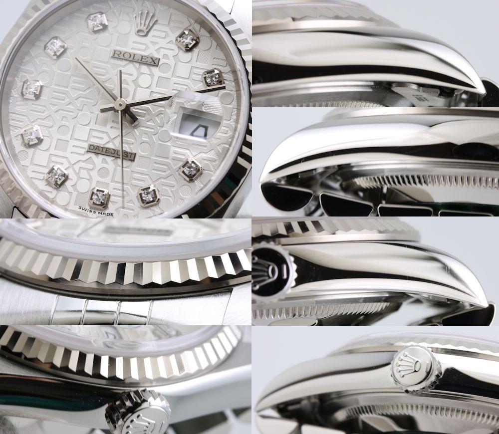 劳力士ROLEX日期确切10P列车时间表16234G WG/SS银子雕刻计算机人自动卷/3万4345手表