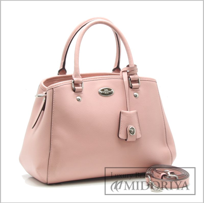046402415 ... ireland coach 2way handbag cross grain leather mini margot carry oar  baby pink f34835 outlet coach