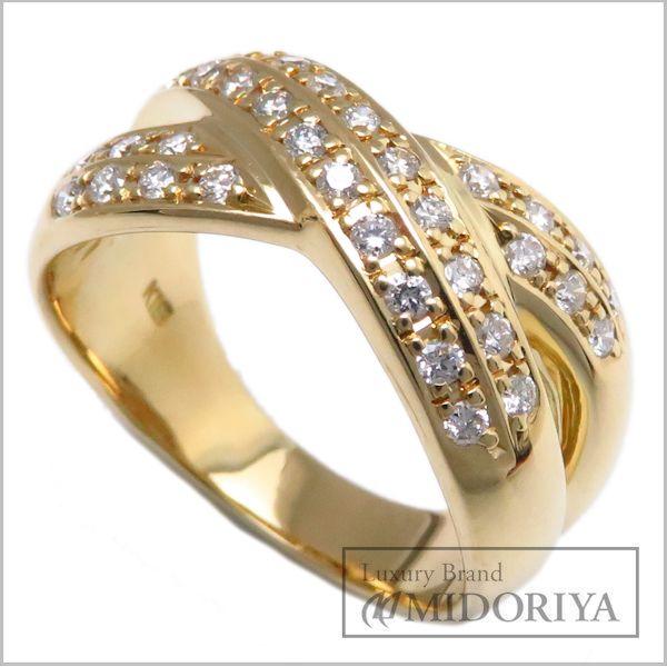 【緊急!大幅値下げ】指輪 ダイヤモンドリング K18YG ダイヤ0.498ct 17.5号 18金イエローゴールド/63084【クリーニング済】