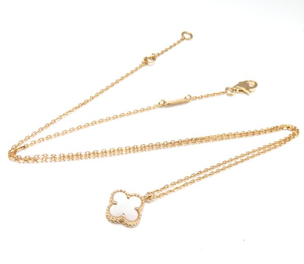 ヴァンクリーフ & アーペルネックレス Van Cleef & Arpels suite Al Kahn bra necklace 750YG mother of pearl 18-karat gold yellow gold pendant /95394