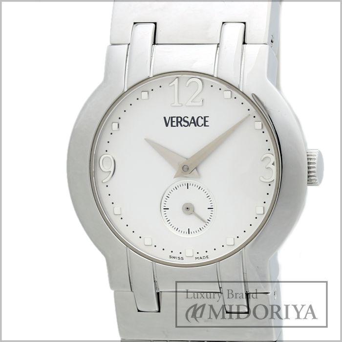 【緊急!大幅値下げ】ヴェルサーチ VERSACE BSQ99 レディース ホワイト クォーツ/34525 【中古】 腕時計【クリーニング済】