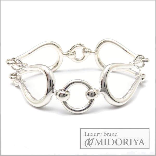 Hermes Sterling Silver 925 Horsebit Bracelet 95484