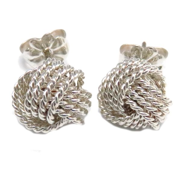 Tiffany pierced earrings TIFFANY twist knot pierced earrings SV925 silver /95540