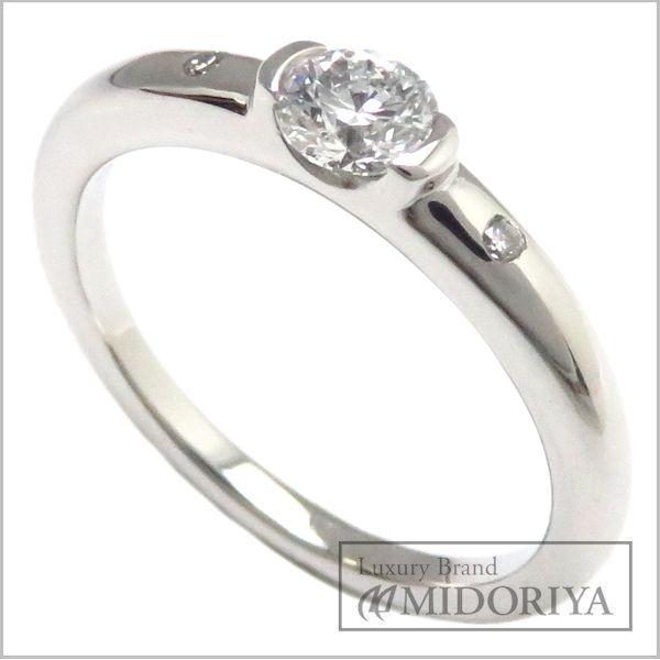 【緊急!大幅値下げ】スタージュエリー STAR JEWELRY ダイヤモンドリング Pt950 10号 ダイヤ0.269/0.02ct プラチナ 指輪/95733【中古】【クリーニング済】