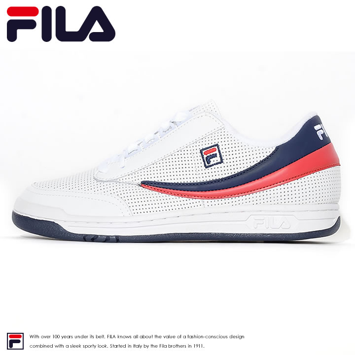 The size clothes which casual sports casual clothes of B of Fila FILA  sneakers punching leather side line ORIGINAL TENNIS PERF (FHE112) ◆ men  fashion ...