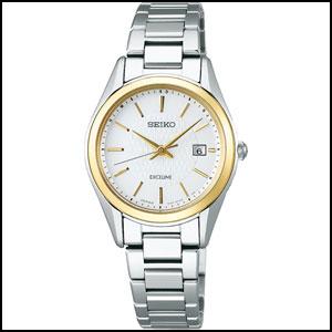 セイコー エクセリーヌ ソーラー 電波 時計 レディース 腕時計 SWCW148