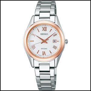 セイコー エクセリーヌ ソーラー 電波 時計 レディース 腕時計 SWCW150