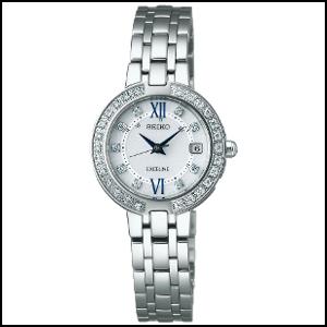 セイコー エクセリーヌ ソーラー 電波 時計 レディース 腕時計 SWCW083