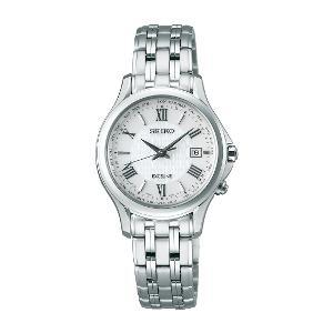セイコー エクセリーヌ ソーラー 電波 時計 レディース 腕時計 SWCW161