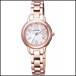 新品 即日発送可 シチズン ウィッカ HAPPY DIARY コラボモデル ソーラー 電波 時計 レディース 腕時計 KL0-464-11