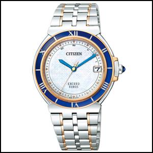 シチズン エクシード ユーロシリーズ ソーラー 電波 時計 メンズ 腕時計 AS7075-54A