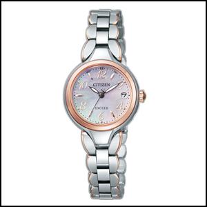 シチズン エクシード ソーラー 電波 時計 レディース 腕時計 ES8044-53W