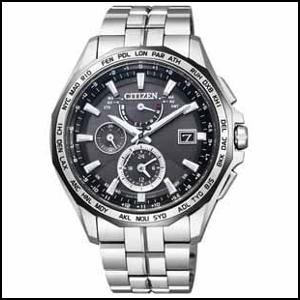 シチズン アテッサ ダブルダイレクトフライト ソーラー 電波 時計 メンズ 腕時計 AT9096-57E