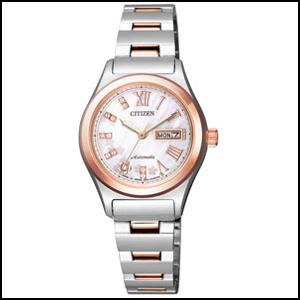シチズン コレクション 桜限定 自動巻き 手巻き付き 時計 レディース 腕時計 PD7166-54Y