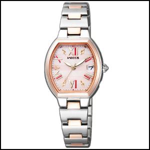 新品 即日発送 シチズン ウィッカ HAPPY DIARY コラボモデル ソーラー 電波 時計 レディース 腕時計 KL0-111-93