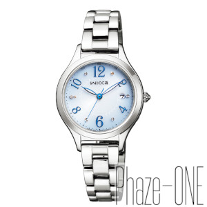 シチズン ウィッカ HAPPY DIARY ソーラー 電波 時計 レディース 腕時計 KS1-210-91