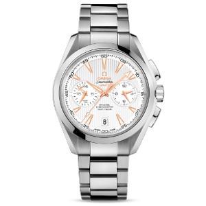 新品 即日発送可 オメガ シーマスター アクアテラ クロノグラフ GMT 自動巻き 時計 メンズ 腕時計 231.10.43.52.02.001