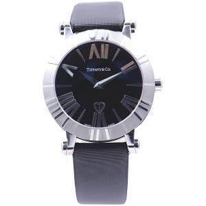 新品 即日発送可 ティファニー アトラス サテンレザー クォーツ 時計 レディース 腕時計 Z1301.11.11A10A41A