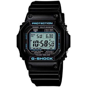 カシオ Gショック ブラック×ブルー ソーラー 電波 時計 メンズ 腕時計 GW-M5610BA-1JF