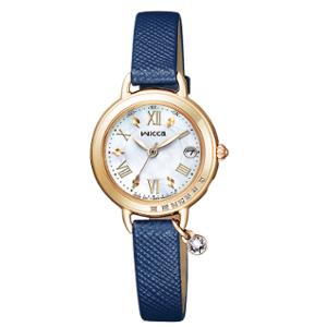 シチズン ウィッカ ブレスライン HAPPY DIARY ソーラー 電波 時計 レディース 腕時計 KL0-821-10