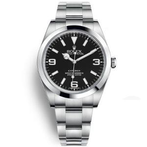 新品 即日発送可 ロレックス エクスプローラーI ホワイトバー自動巻き 時計 メンズ 腕時計 214270