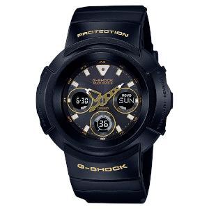 新品 即日発送 CASIO カシオ Gショック ブラック ゴールド シリーズソーラー 電波 時計 メンズ 腕時計 AWG-M510SBG-1AJF
