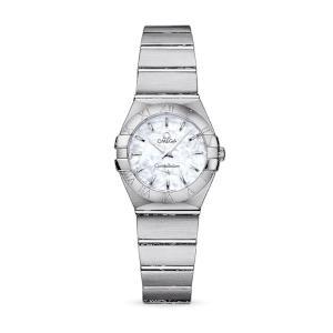 新品 即日発送可 オメガ コンステレーション ブラッシュ クォーツ 時計 レディース 腕時計 123.10.24.60.05.001