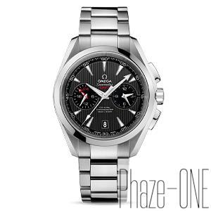 新品 即日発送可 オメガ シーマスター アクアテラ クロノグラフ GMT 自動巻き 時計 メンズ 腕時計 231.10.43.52.06.001