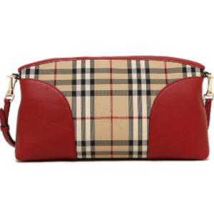 Phaze-one  Burberry hose ferry check leather clutch bag shoulder bag HONEY  P.RED 3992861 6045B   Rakuten Global Market 872184ac1a
