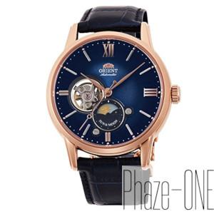 新品 即日発送 オリエント クラシック SUN&MOON セミスケルトン 自動巻き 時計 メンズ 腕時計 RN-AS0004L