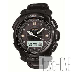 新品 即日発送可 カシオ プロトレック ブラックチタンリミテッド ソーラー 電波 時計 メンズ 腕時計 PRW-5100YT-1CJF