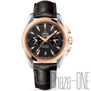 新品 即日発送可 オメガ シーマスター アクアテラ クロノグラフ GMT アリゲーターレザー 自動巻き 時計 メンズ 腕時計 231.23.43.52.06.001