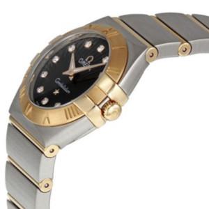 新品 即日発送可 オメガ コンステレーション ブラッシュ ダイヤ クォーツ 時計 レディース 腕時計 123.20.24.60.63.001