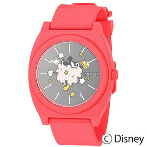 並行輸入品 NIXON 男女兼用 ウォッチ ニクソン ミッキーマウス タイムテラーP レッド クォーツ ユニセックス 腕時計 A119-3098