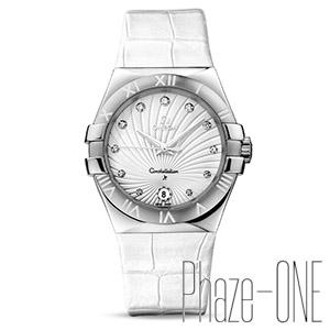 新品 即日発送可 オメガ コンステレーション ダイヤ アリゲーターレザー クォーツ レディース 腕時計 123.13.35.60.52.001