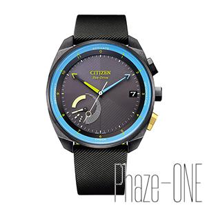 シチズン エコ・ドライブ Riiiver ラバーバンド Bluetooth ソーラー メンズ 腕時計 BZ7005-07F